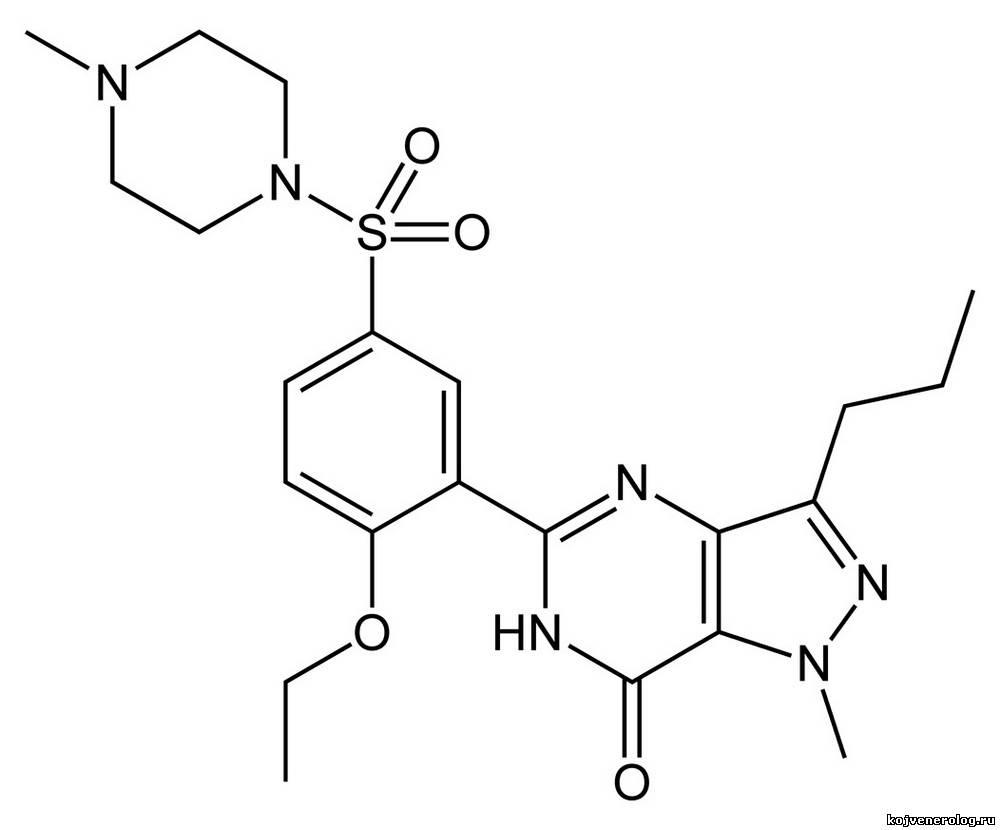 силденафил формула